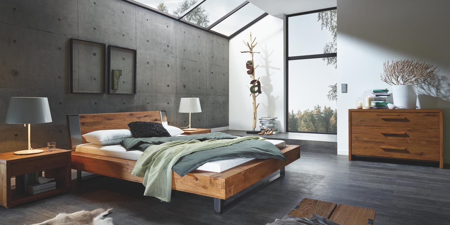 amazing du cadre de lit chne noueux naturel bross huil tte de lit sion chne noueux naturel bross. Black Bedroom Furniture Sets. Home Design Ideas